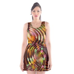 Wave Rings Circle Abstract Scoop Neck Skater Dress