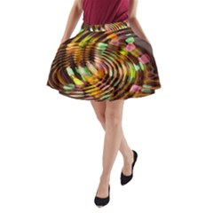 Wave Rings Circle Abstract A Line Pocket Skirt