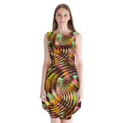Wave Rings Circle Abstract Sleeveless Chiffon Dress