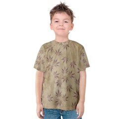 Parchment Paper Old Leaves Leaf Kids  Cotton Tee