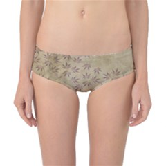 Parchment Paper Old Leaves Leaf Classic Bikini Bottoms