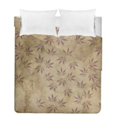 Parchment Paper Old Leaves Leaf Duvet Cover Double Side (full/ Double Size) by Nexatart