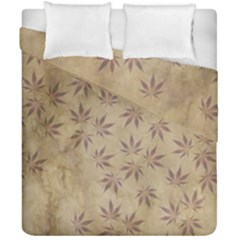 Parchment Paper Old Leaves Leaf Duvet Cover Double Side (california King Size) by Nexatart