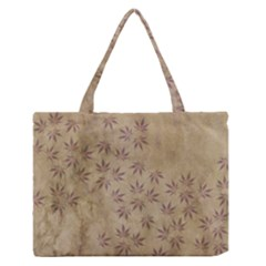 Parchment Paper Old Leaves Leaf Medium Zipper Tote Bag by Nexatart