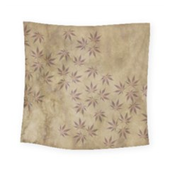 Parchment Paper Old Leaves Leaf Square Tapestry (small) by Nexatart
