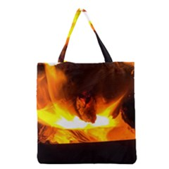 Fire Rays Mystical Burn Atmosphere Grocery Tote Bag by Nexatart