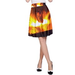 Fire Rays Mystical Burn Atmosphere A Line Skirt