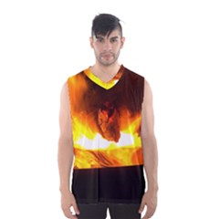 Fire Rays Mystical Burn Atmosphere Men s Basketball Tank Top by Nexatart