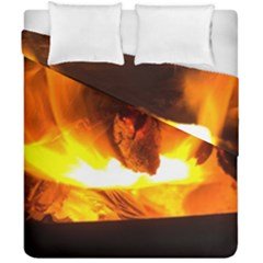 Fire Rays Mystical Burn Atmosphere Duvet Cover Double Side (california King Size)