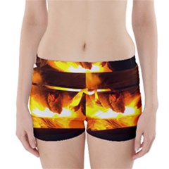 Fire Rays Mystical Burn Atmosphere Boyleg Bikini Wrap Bottoms