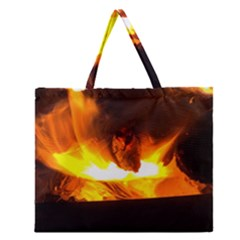 Fire Rays Mystical Burn Atmosphere Zipper Large Tote Bag by Nexatart