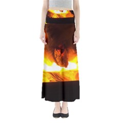 Fire Rays Mystical Burn Atmosphere Maxi Skirts