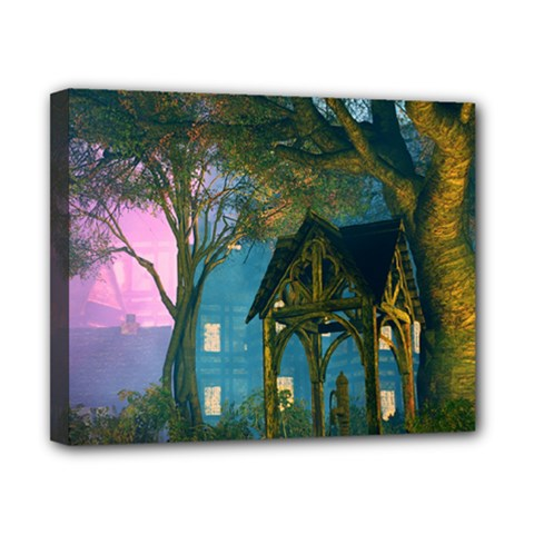 Background Forest Trees Nature Canvas 10  X 8