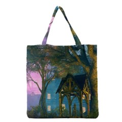 Background Forest Trees Nature Grocery Tote Bag