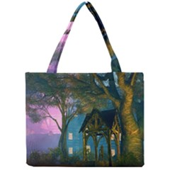 Background Forest Trees Nature Mini Tote Bag