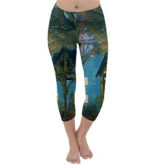 Background Forest Trees Nature Capri Winter Leggings