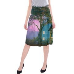 Background Forest Trees Nature Midi Beach Skirt