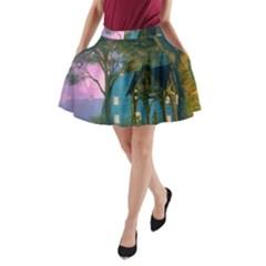 Background Forest Trees Nature A Line Pocket Skirt