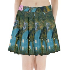Background Forest Trees Nature Pleated Mini Skirt