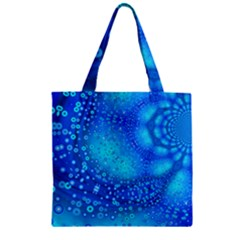 Bokeh Background Light Reflections Zipper Grocery Tote Bag