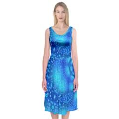 Bokeh Background Light Reflections Midi Sleeveless Dress