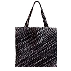 Background Structure Pattern Zipper Grocery Tote Bag