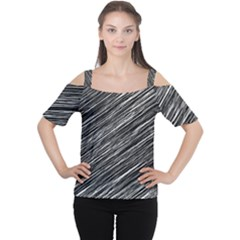 Background Structure Pattern Women s Cutout Shoulder Tee