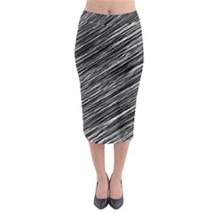 Background Structure Pattern Midi Pencil Skirt