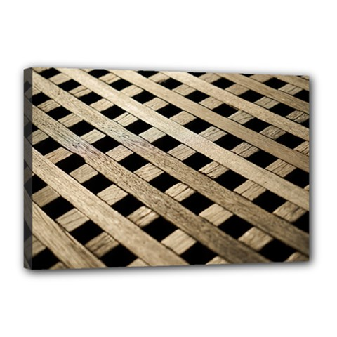 Texture Wood Flooring Brown Macro Canvas 18  X 12  by Nexatart