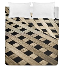 Texture Wood Flooring Brown Macro Duvet Cover Double Side (queen Size) by Nexatart