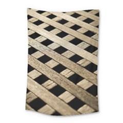 Texture Wood Flooring Brown Macro Small Tapestry by Nexatart