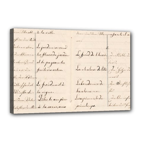 German French Lecture Writing Canvas 18  X 12
