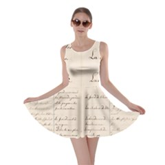 German French Lecture Writing Skater Dress