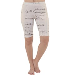 German French Lecture Writing Cropped Leggings