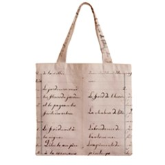 German French Lecture Writing Zipper Grocery Tote Bag by Nexatart