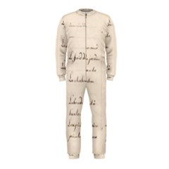 German French Lecture Writing Onepiece Jumpsuit (kids)