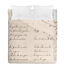 German French Lecture Writing Duvet Cover Double Side (full/ Double Size)