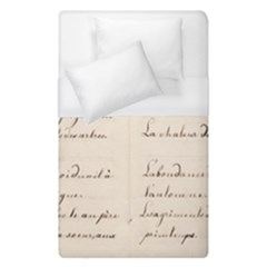 German French Lecture Writing Duvet Cover (single Size) by Nexatart