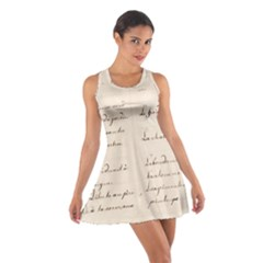 German French Lecture Writing Cotton Racerback Dress