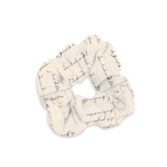 German French Lecture Writing Velvet Scrunchie