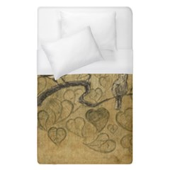 Birds Figure Old Brown Duvet Cover (single Size) by Nexatart