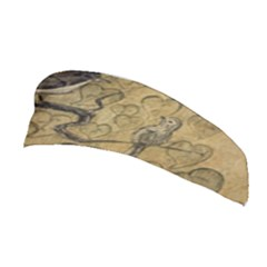 Birds Figure Old Brown Stretchable Headband