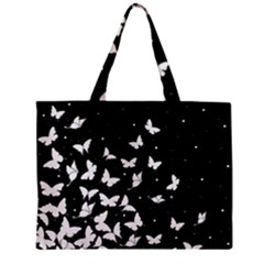 Butterfly Pattern Zipper Mini Tote Bag by Valentinaart