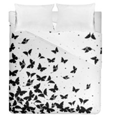 Butterfly Pattern Duvet Cover Double Side (queen Size) by Valentinaart