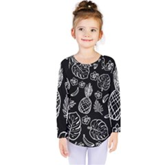 Tropical Pattern Kids  Long Sleeve Tee by Valentinaart