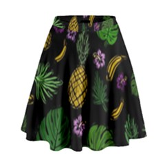 Tropical Pattern High Waist Skirt by Valentinaart