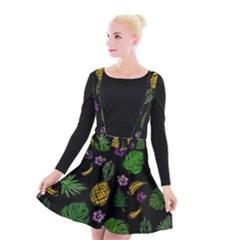 Tropical Pattern Suspender Skater Skirt by Valentinaart