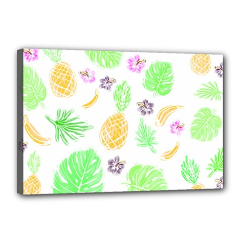 Tropical Pattern Canvas 18  X 12  by Valentinaart