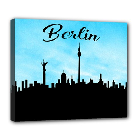 Berlin Deluxe Canvas 24  X 20   by Valentinaart