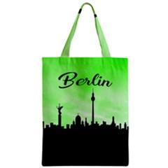 Berlin Zipper Classic Tote Bag by Valentinaart
